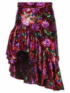 Giuseppe Di Morabito sequined asymmetric skirt - Red