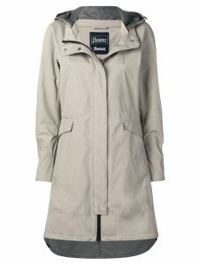Herno hooded raincoat - Neutrals
