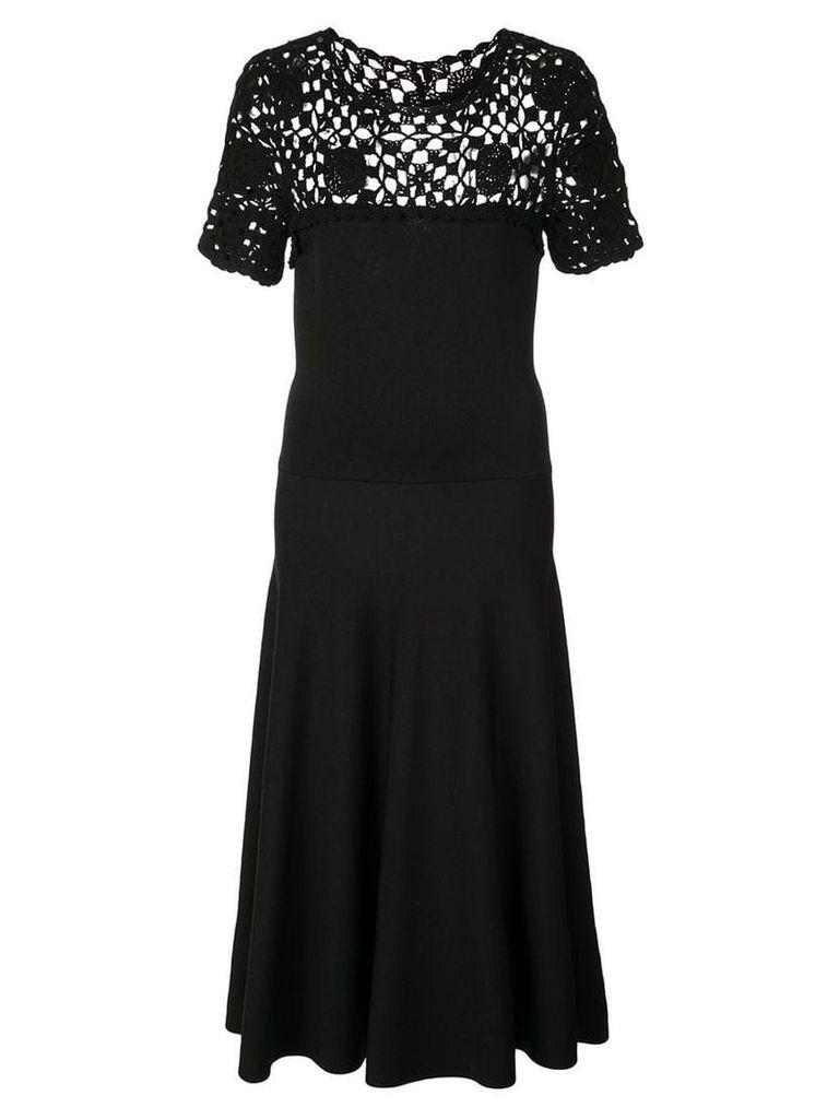 Carolina Herrera cut-out detail knitted dress - Black