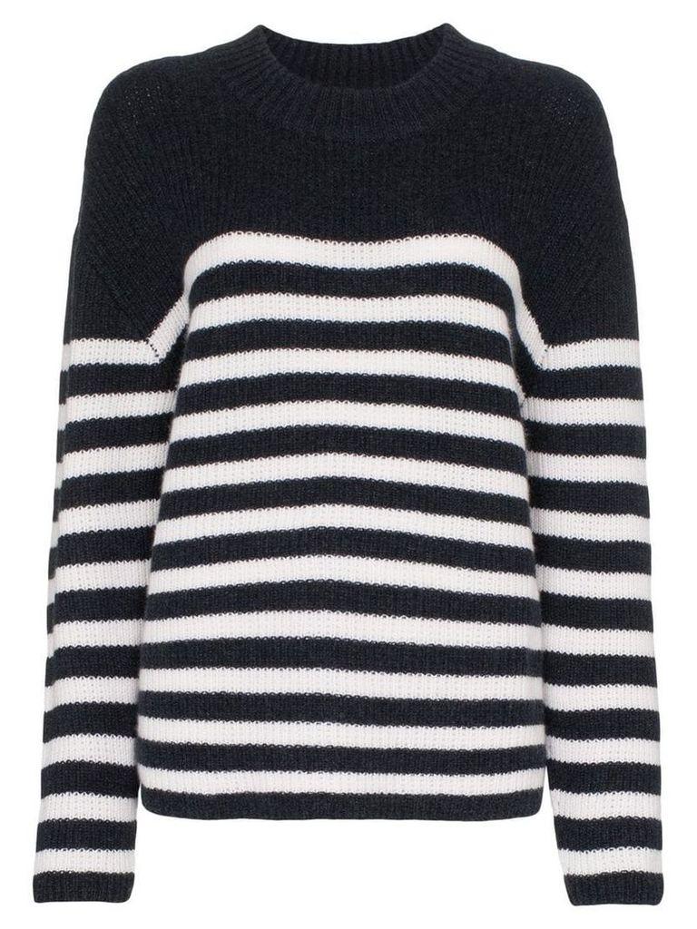 Le Kasha etretate striped cashmere jumper - Blue