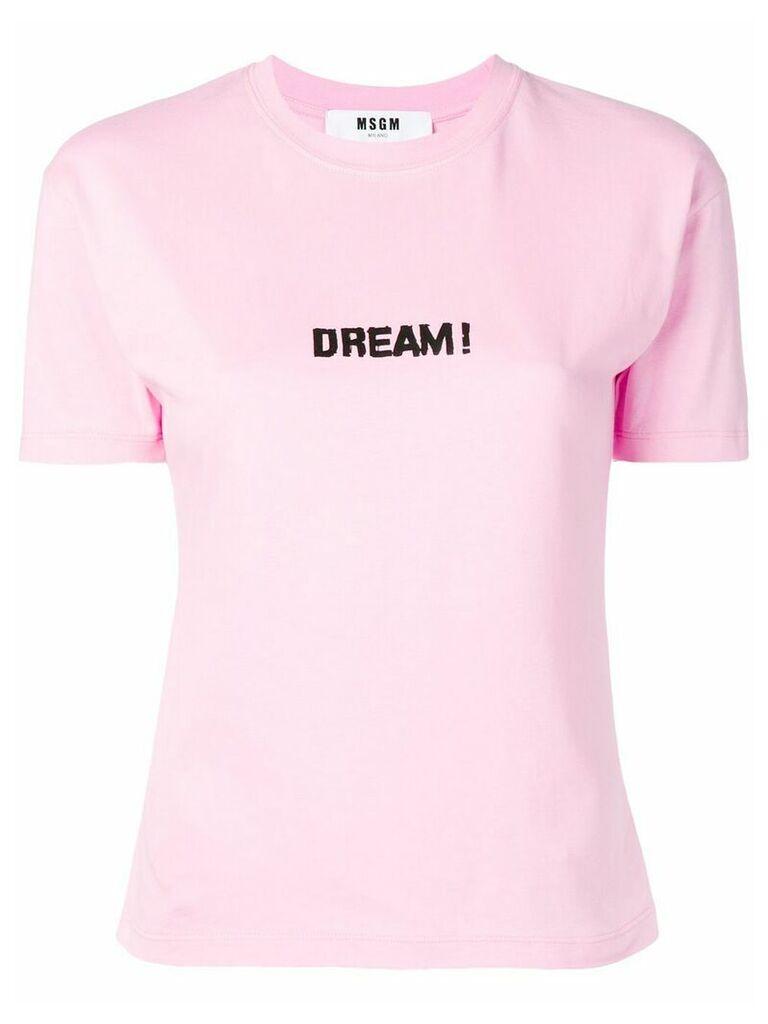 MSGM pink 'Dream!' T-shirt