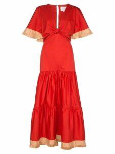 Johanna Ortiz untold stories cotton maxi dress - Red