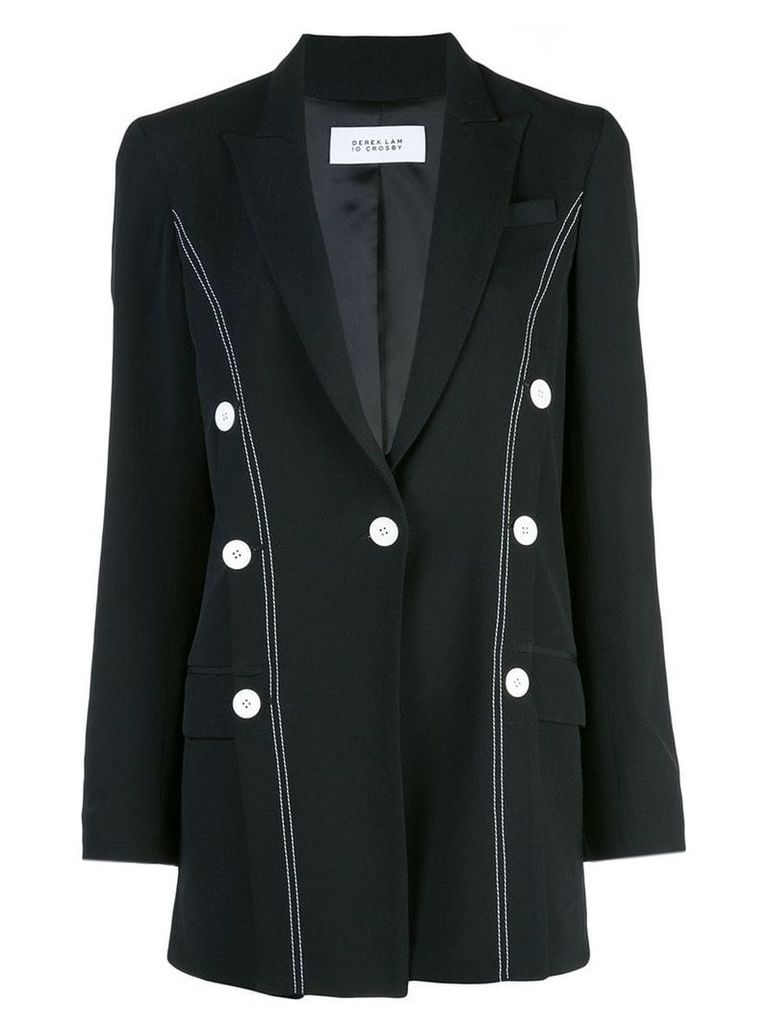 Derek Lam 10 Crosby Oversized Double-Breasted Blazer - Black
