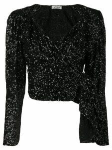 Attico embellished cropped top - Black