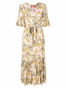 La Doublej Curly Swing Polinesia dress - Neutrals