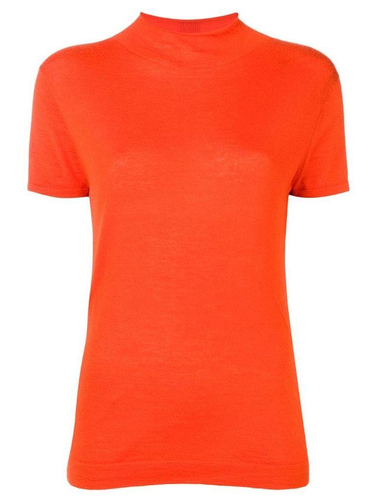 N.Peal mock neck knit top - Orange
