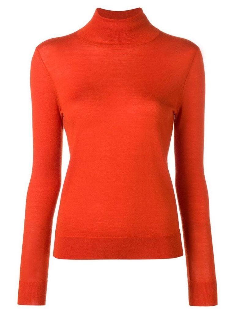 N.Peal superfine roll-neck jumper - Orange