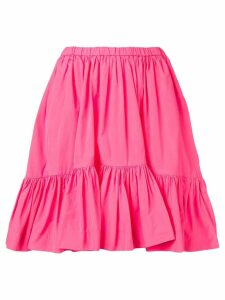 MSGM ruched panelled skirt - Pink