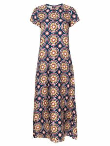 La Doublej printed maxi swing dress - Blue