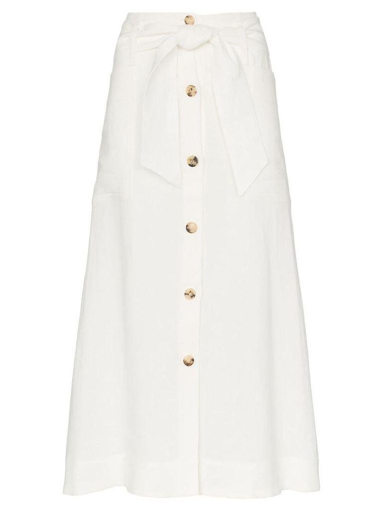 Le Kasha Giza midi-skirt - White