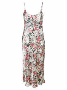 Ganni floral slip dress - Neutrals
