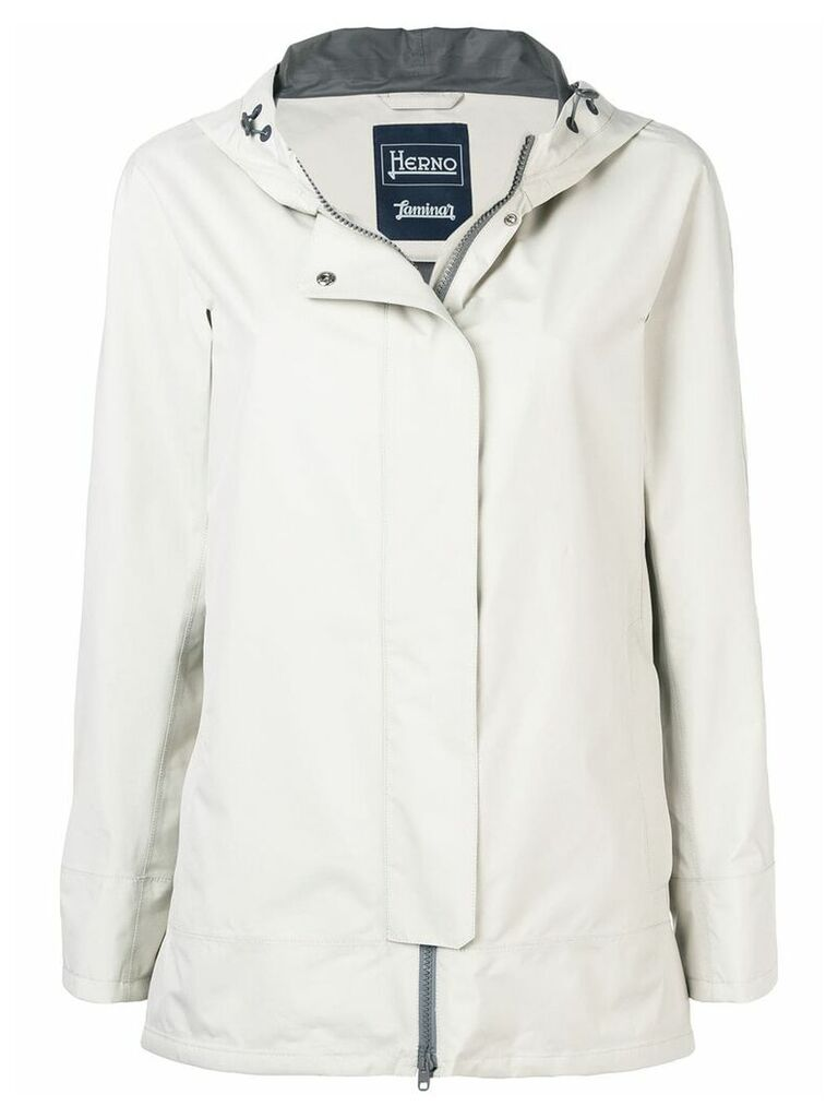 Herno hooded raincoat - Neutrals