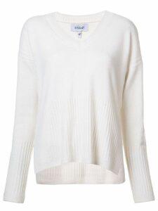 Derek Lam 10 Crosby Wooster V-Neck Sweater - White