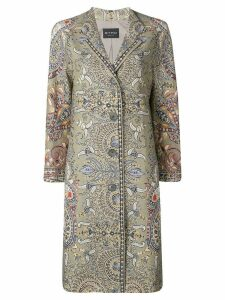 Etro paisley print straight-cut coat - Green