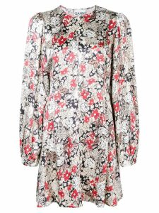 Ganni floral mini dress - Neutrals