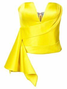 Rubin Singer side peplum corset top - Yellow