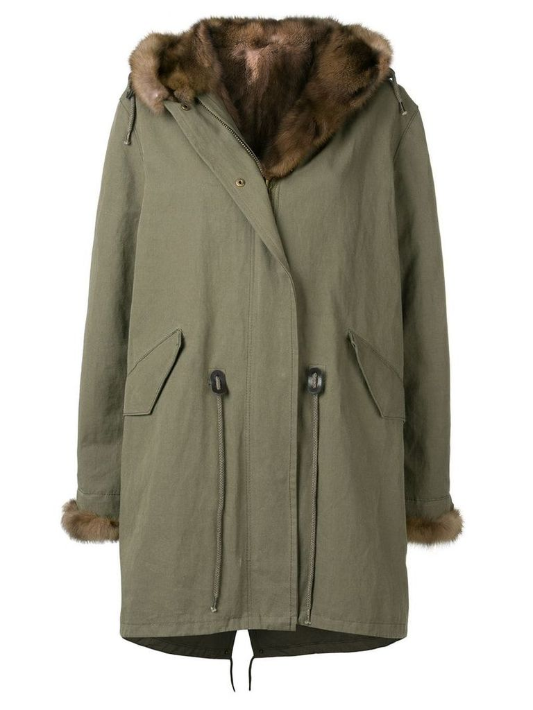 Liska trimmed parka coat - Green