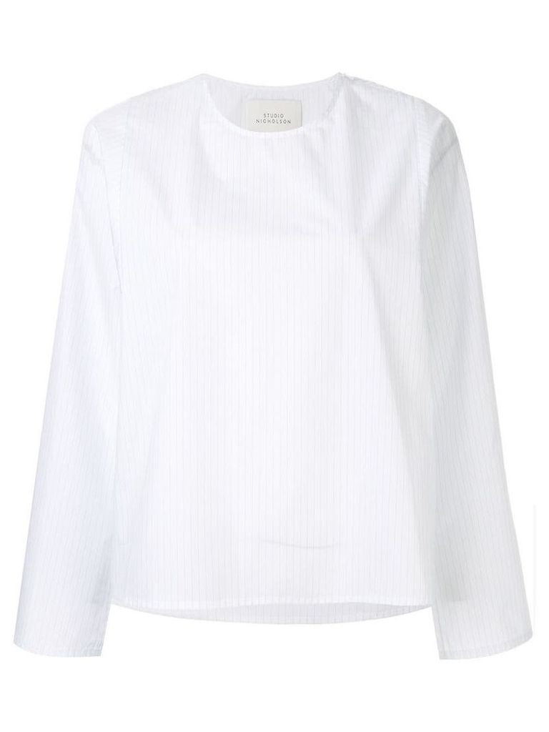 Studio Nicholson Tolan stripe top - White