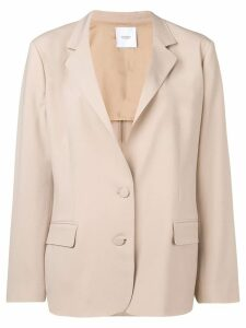 Agnona boxy fit blazer - Neutrals