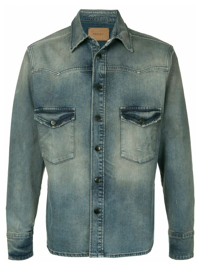Ports V denim shirt - Blue