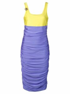 Fausto Puglisi ruched fitted dress - Blue