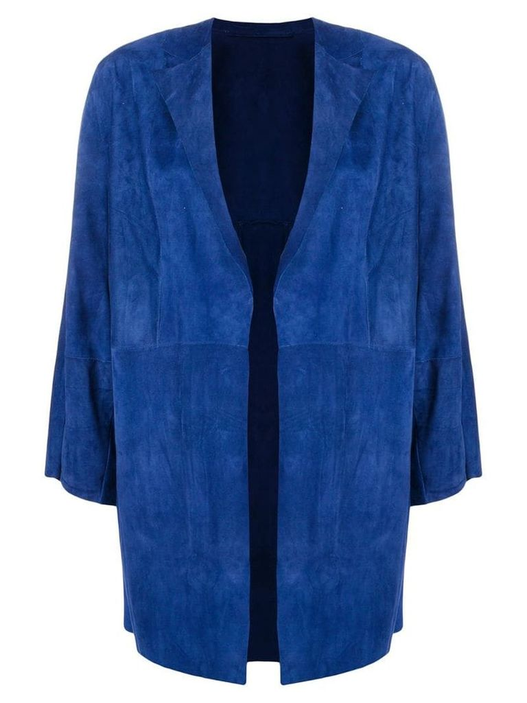 Salvatore Santoro draped fitted jacket - Blue