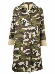 Miu Miu camouflage print coat - Green