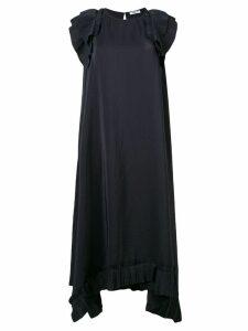 P.A.R.O.S.H. ruffled asymmetric dress - Black