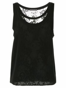 Alexander McQueen layered lace vest top - Black