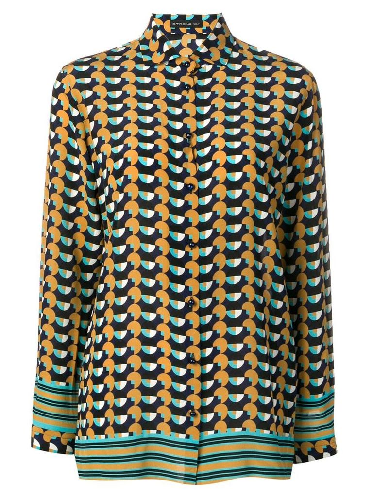 Etro all-over print shirt - Brown