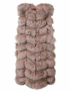 Liska padded gilet coat - Pink