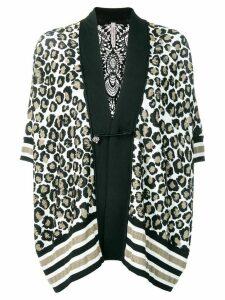 Antonio Marras leopard print cardigan - Black