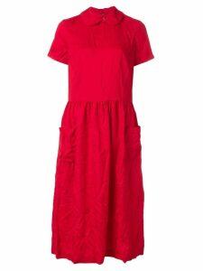 Comme Des Garçons Girl woven smock dress - Red
