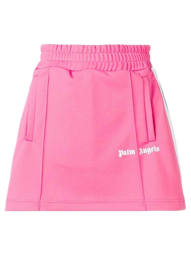 Palm Angels side stripe track skirt - Pink