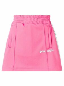 Palm Angels side stripe track skirt - Pink
