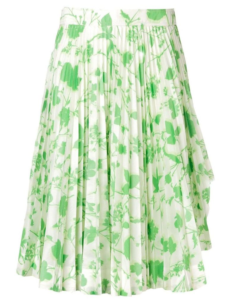 Calvin Klein 205W39nyc floral print pleated skirt - Green