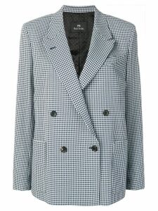PS Paul Smith checked double-breasted blazer - Blue