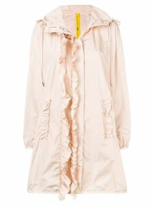 Moncler ruffled raincoat - Pink
