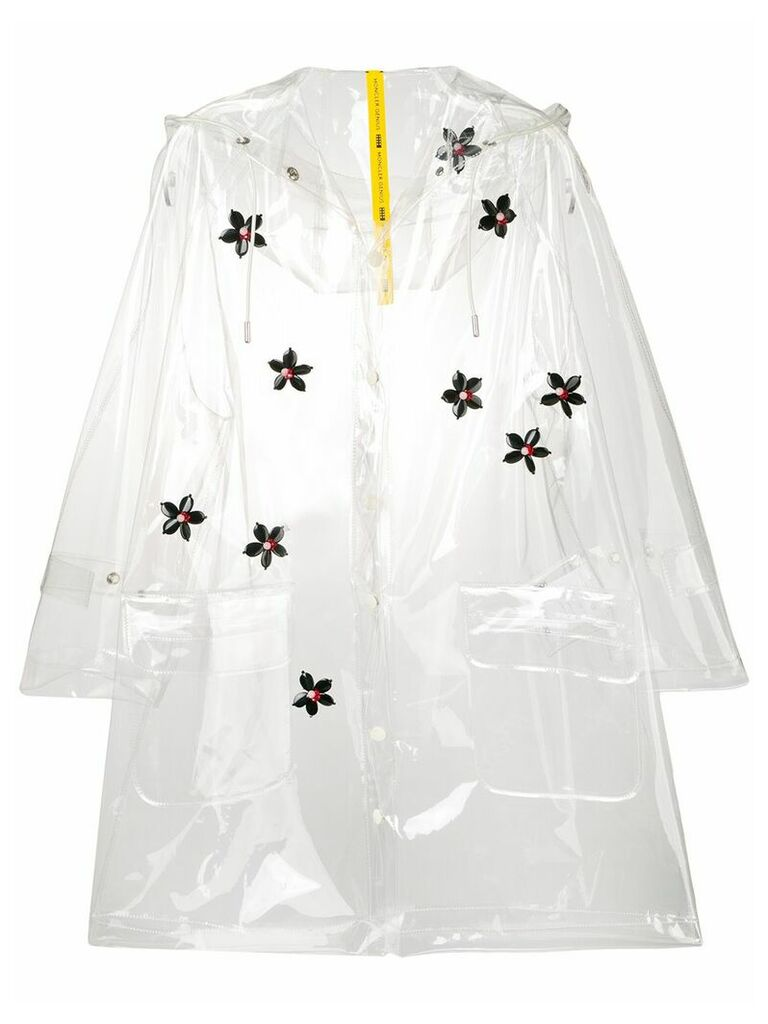 Moncler vinyl raincoat - White