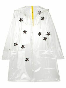 Moncler vinyl raincoat - White