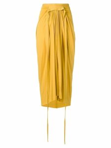 Rick Owens Lilies draped midi skirt - Yellow