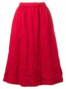 Comme Des Garçons Girl woven crinkled midi skirt - Red