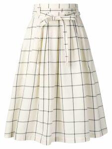 PS Paul Smith check print A-line skirt - Neutrals