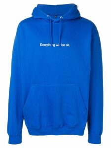 F.A.M.T. 'everything will be ok' printed hoodie - Blue