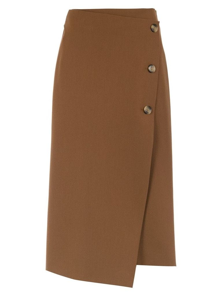 Nk buttoned midi skirt - Brown