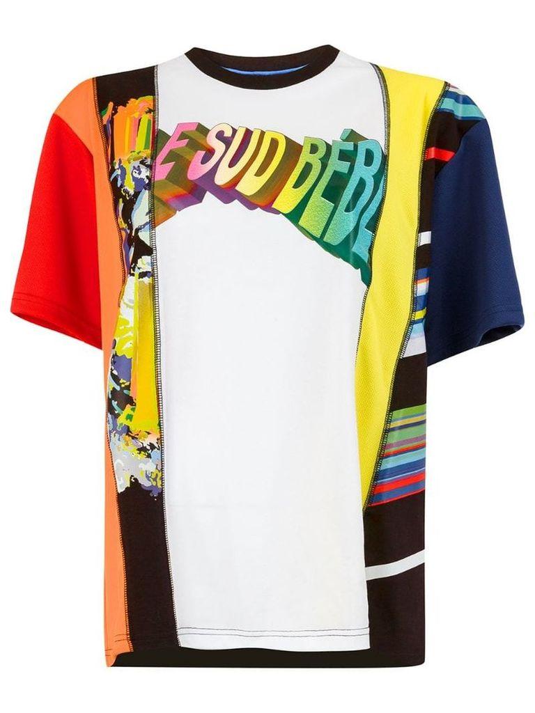 Koché panelled graphic print T-shirt - Multicolour