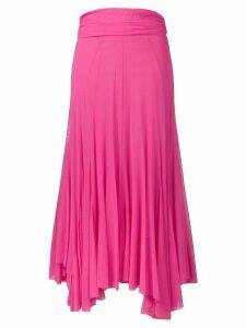 MSGM pink pleated skirt