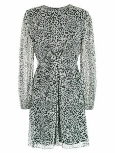 Nk animal print silk dress - White
