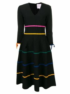 Carolina Herrera stripe detail dress - Black