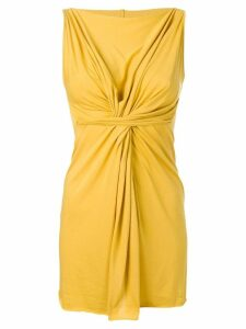 Rick Owens Lilies gathered detail top - Yellow